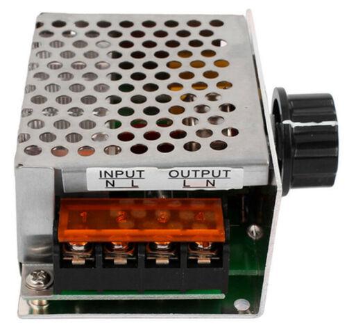 Hot AC 220V 4000W SCR Voltage Regulator Dimmer Motor Speed Controller Module New