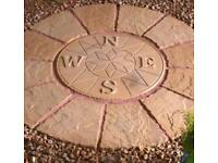 Patio Circle Compass Feature 1.2m 4ft Circle Garden Feature
