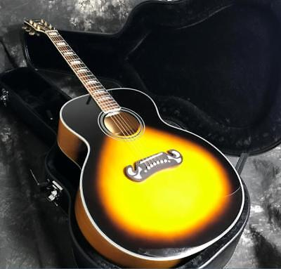 J200A  Acoustic Guitar 43'' Jumbo Body Sunburst Grover Tuner Gold Hardware for sale  Shipping to Canada