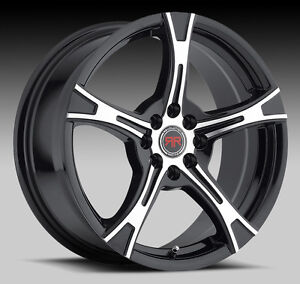 "NEW FOR 2015 !!! 18"" Black machined rims 5X110 5X114.3 $790 #R9"