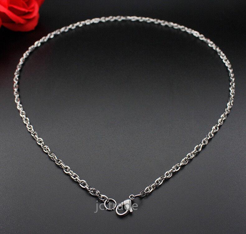 Women Men Unisex Silver Stainless Steel Cross Double Buckle