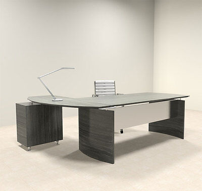 2pc Modern Contemporary L Shaped Executive Office Desk Set Mt-med-o4
