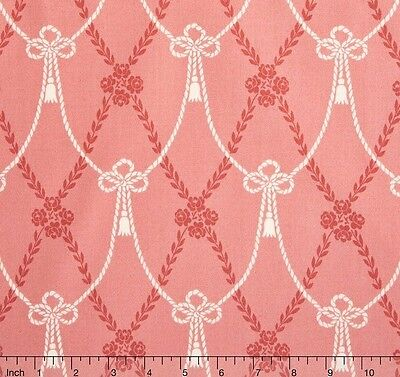 - Downton Abbey Fabric Home Collection Pink Quilt Fabric Premium Cotton Andover
