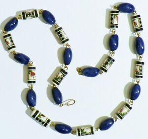 """superbe collier bijou ancien perles porcelaine bleu belle couleur *2371 - France - État : Occasion : Objet ayant été porté. Consulter la description du vendeur pour avoir plus de détails sur les éventuelles imperfections. Commentaires du vendeur : """"correct"""" - France"""