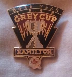 1996 Hamilton Tiger Cats Grey Cup Pin (84th Year)