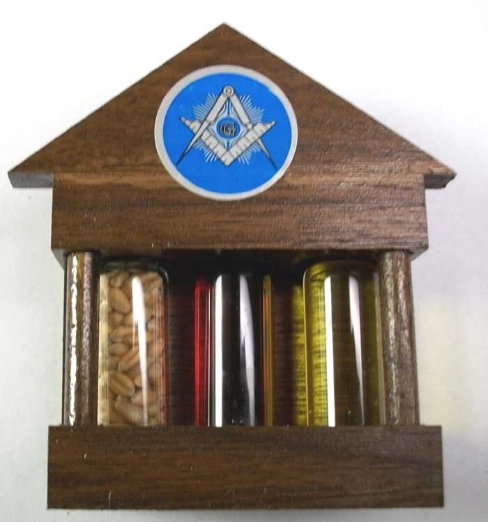 Masonic Fellowcraft token, Corn, Wine & Oil & Masonic Penny