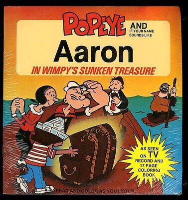 POPEYE Wimpy's Treasure PERSONALIZED Record AaRON 061