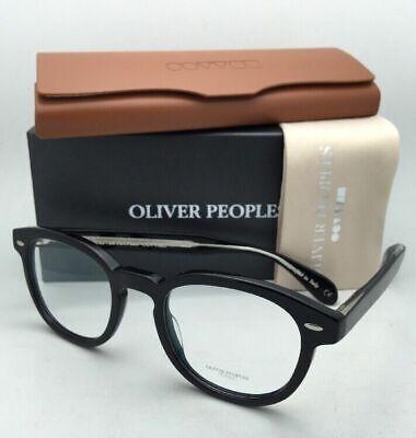 New OLIVER PEOPLES Eyeglasses SHELDRAKE OV 5036 1492 47-22 Black Frame w/ (Oliver Peoples Clear Frame Glasses)
