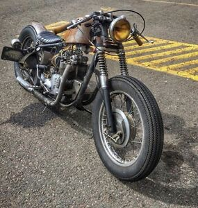 1970 triumph t100 bobber