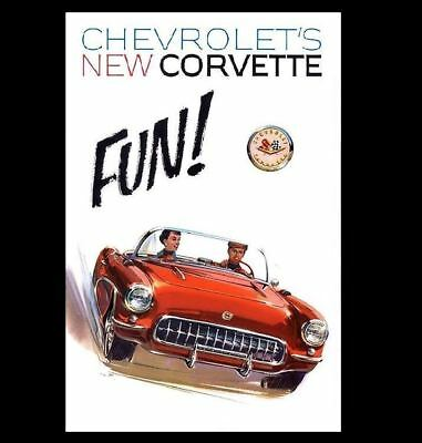 1957 Corvette PHOTO Art Ad Advertisement Pic Sign Chevrolet Chevy Sports Car