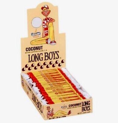 Long Boy Candy (Coconut Long Boys by Atkinson's 48 Count Box 16oz Chewy Caramel Bulk)