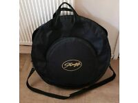 "Deluxe Stagg 22"" padded cymbal bag."