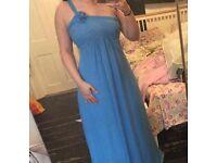 2x blue bridesmaid dresses