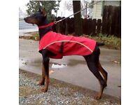 AS NEW RUFFWEAR WATERPROOF DOG COAT (Overcoat Fleece Lined)