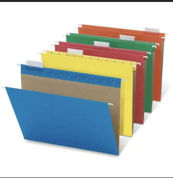 Office Depot Brand Hanging File Folders, Letter Size, Assorted Colors, 25-Pk