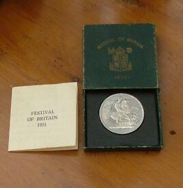 1951 Festival of Britain Commemorative Coin (Boxed)
