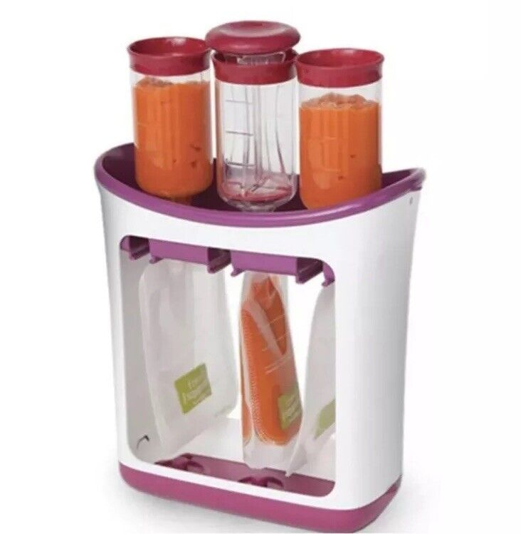 Infantino Fresh Squeeze Station Includes Squeeze Pouches And Tops