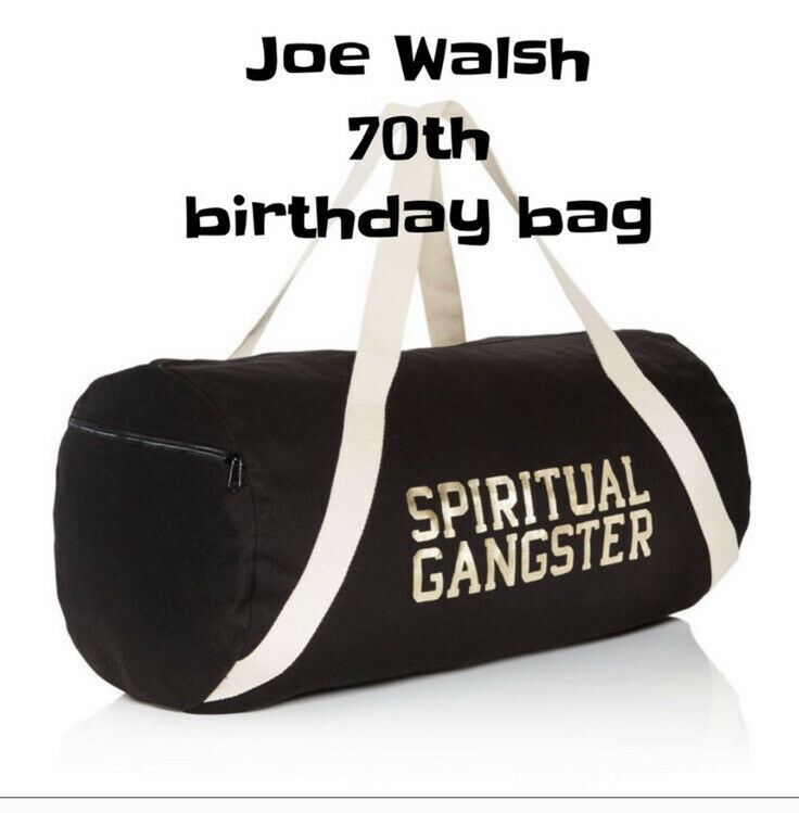Joe Walsh 70th Birthday Swag spiritual gangster Duffle Bag and Bracelet Eagles