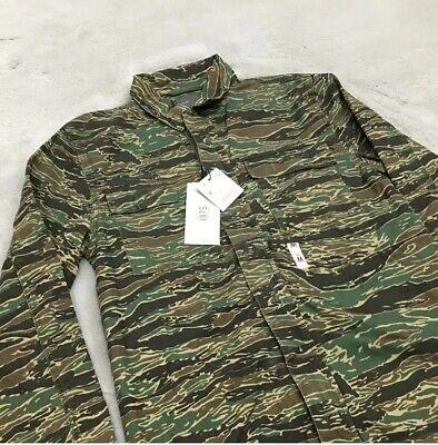 Men's Tiger Stripe Camouflage Denim Shirt / Jacket - Medium - Zara - New w/Tags
