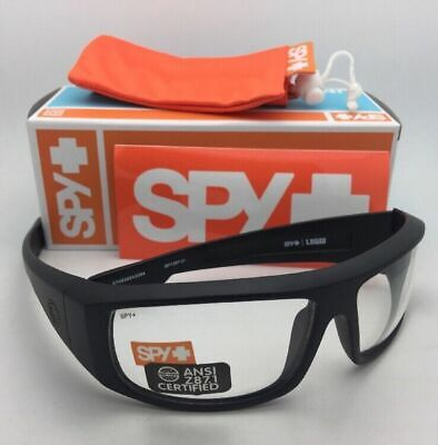 New SPY OPTIC Safety Glasses LOGAN Matte Black Frames w/ Clear ANSI Z87.1 (Spy Safety Glasses)