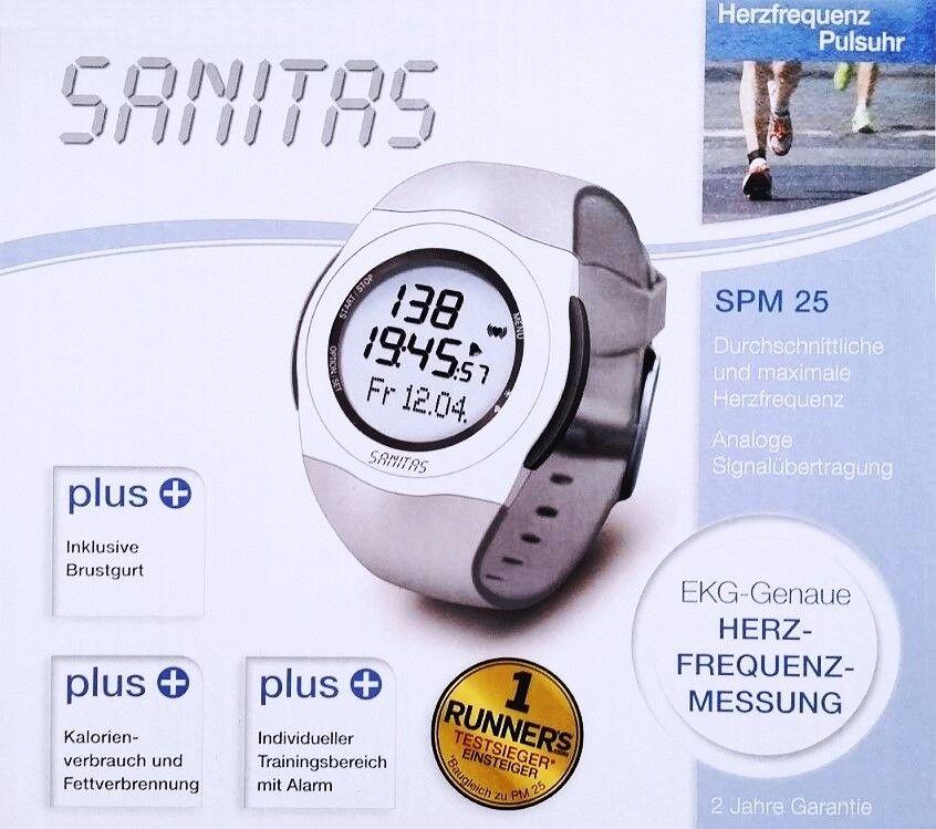 SANITAS SPM 25 Pulsuhr mit Brustgurt Pulsmessgerät Herzfrequenzmessung EKG-genau