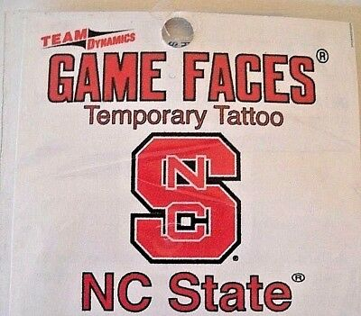 ONE NORTH CAROLINA STATE UNIVERSITY NCSU WOLFPACK TEMPORARY TATTOO BY GAME FACES