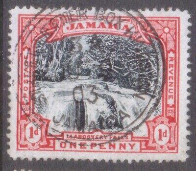 """JAMAICA   POSTMARK / CANCEL  """"STREET LETTER BOX KINGSTON""""  1903  on 1d Falls"""