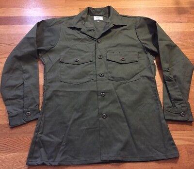 Vintage 1984's Vietnam War Late US Army Dura Press OG-507 Uniform Shirt.