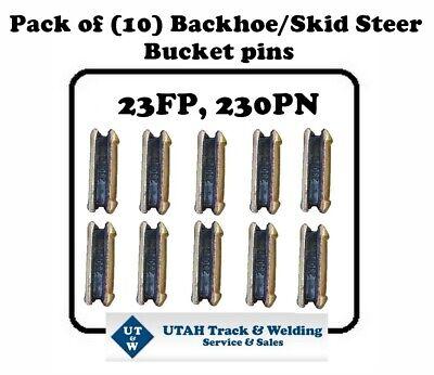 Set Of 10 Backhoe Skid Bucket Pins 23fp 230pn For 230 Size Hl Teeth