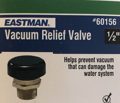 Eastman Vacuum Relief Valve Water Heater Replacement Accessory Part 12 Inch Mip