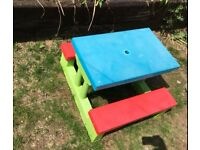 Childrens picnic garden table