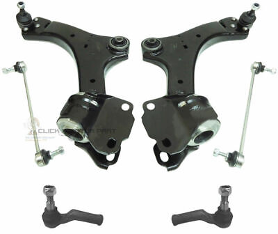 FORD S-MAX FRONT SUSPENSION 2 LOWER WISHBONE ARMS + LINKS + TRACK ROD ENDS