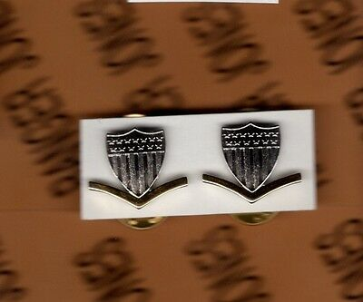 USCG Coast Guard E-4 Petty Officer 3rd Class PO-3 collar rank badge set Coast Guard Officer Rank