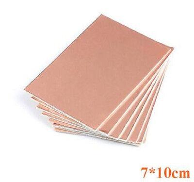 5pcs 7x10cm One Side Circuit Board Copper Clad Plate Laminate Pcb Glass Fiber