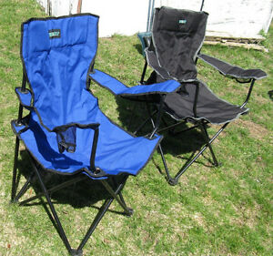 2 Almost New Escort Fold Up Camping Chairs