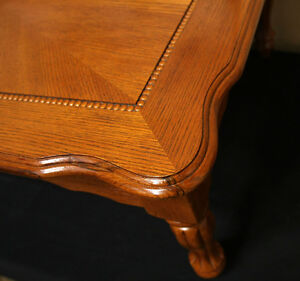 Handsome Amber Oak Tiger Eye Coffee Table SEE VIDEO