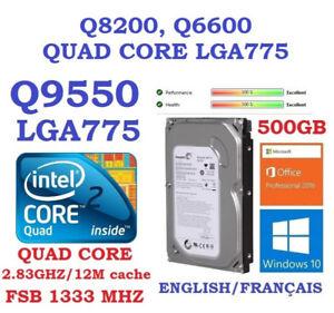 Q 9650 : 65$,  500GB SATA  & Windows 10 Pro and Office 2016: 45$