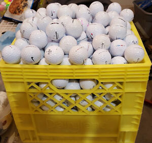 Bin of 300 used and cleaned golf balls - all brands