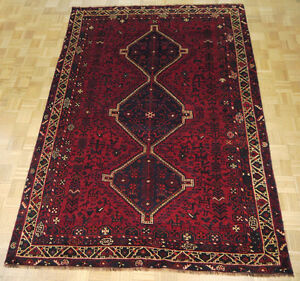 17644-Shiraz Hand-Knotted/Handmade Persian Rug/Carpet Tribal/Nom