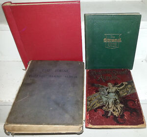 Extremely OLD STAMP ALBUM ALBUMS COLLECTION LOT OF