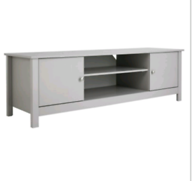 Brand new grey large tv unit