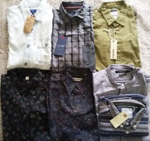 New 7 designer shirts size S diesel Scotch & Soda armani +