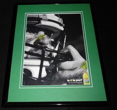 1998 Gatorade Is It In You? / Football Framed 11x14 ORIGINAL Advertisement