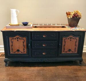 Beautifully refinished sideboard/buffet (solid rosewood)