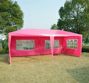 Event Tent for Catering 10' x 20' /4 Walls - Pink