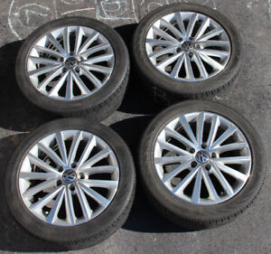 """17"""" VW Stock Wheels / Rims with Continental All Season Tires"""