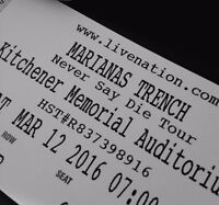 MARIANAS TRENCH TICKET FOR SALE