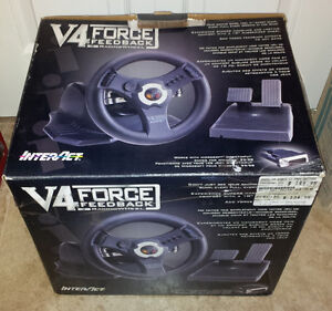 InterAct V4 Force FeedBack Racing Wheel with pedals (Win95/98)