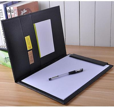 A4 Conference Folder Pu Leather Business Portfolio Organiser Case Style A
