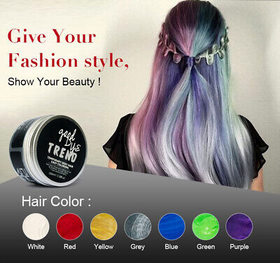 Hair WAX Temporary Hair Color Dye One Time Coloring Hairs Styling Good Dye (Good Moustache Styles)